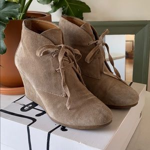 Dolce Vita Suede Wedge Booties
